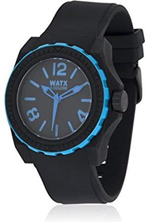 Watx Herren Analog Quarz Uhr mit Kautschuk Armband RWA1813_Negro