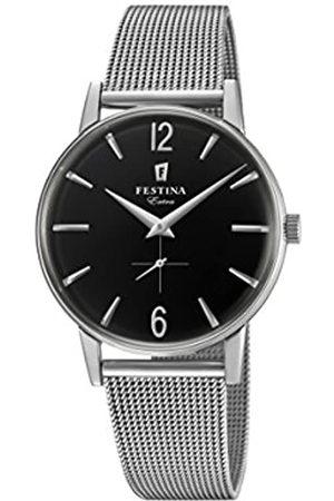 Festina Herren Analog Quarz Uhr mit Edelstahl Armband F20252/4
