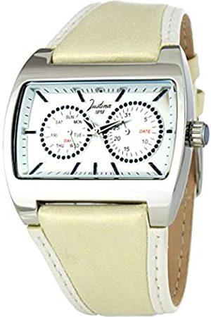 JUSTINA Analog Quarz Uhr mit Leder Armband 21780B