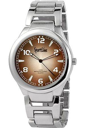 Sportline Herren Analog Quarz Uhr mit Verschiedene Materialien Armband 284327000006