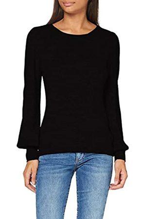 SPARKZ COPENHAGEN Damen Pure Cashmere Puff Sleeve Pullover, Black