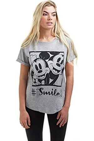 Disney Damen Hashtag Smile T-Shirt