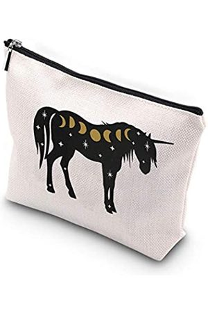 Generic WCGXKO Cosmic Einhorn Mond Hexe Reißverschlusstasche Tasche für Tarotkarten Kristalle Witchy Things