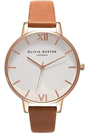 Olivia Burton Damen Analog Quarz Uhr mit Leder Armband OB16BDW19