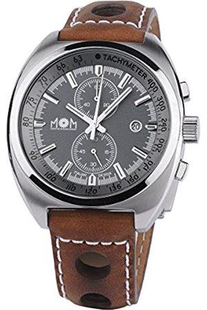 M.O.M. Manifattura Orologiaia Modenese Herren Chronograph Quarz Uhr mit Leder Armband PM7610-0127