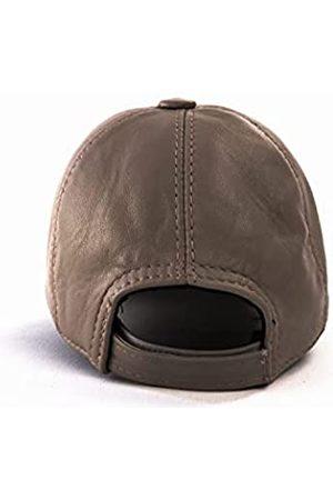 Bonamaison Unisex-Adult Genuie Leather with Velcro Echtes Leder Baseball mütze mit Klettverschluss