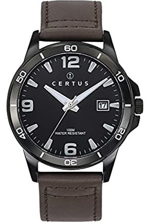Certus HerrenAnalogQuarzUhrmitLederArmband611099