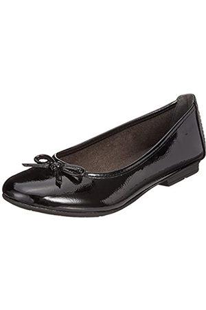 Soft Line Damen 22163-21 Geschlossene Ballerinas, (Black Patent 018)