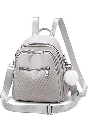 I IHAYNER Rucksack für Damen, modischer Mini-Rucksack, Nylon, wasserabweisend, Rucksack für Damen, Grau (hellgrau)