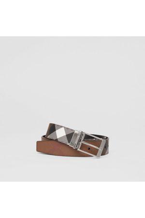 Burberry Wendbarer Gürtel aus Eco-Canvas im Karodesign und Leder, Size: 100, Brown