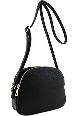 Alyssa Halbmond-Tasche mit Doppelreißverschluss