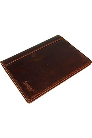 AurDo RFID Blocking Leather Passport Cover Safe ID Protection Travel Case (Oil Pull-up Dark Brown)