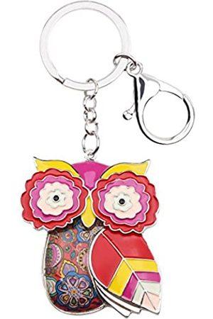 BONSNY Eulen-Schlüsselanhänger aus Eulen-Metall, für Frauen, Auto-Tasche, Anhänger