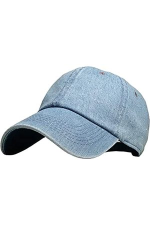 KBETHOS KB-LOW MDM Classic Baumwolle Papa Hut Einstellbare Plain Cap. Polo Style Low Profile (unstrukturiert) (klassisch) Medium Denim verstellbar