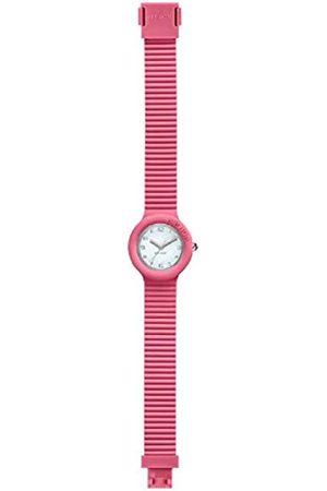 Hip Damen-Armbanduhr Numbers Collection Zifferblatt einfarbig weiß Uhrwerk nur Zeit - 3H Quarz und Silikonband HWU0984