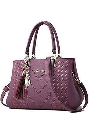 ALARION Damen Laptop- & Aktentaschen - Damen-Portemonnaies und Handtaschen, Schultertasche für Damen, Designer-Schultasche, Messenger, Tragetasche, (1-cpurple)
