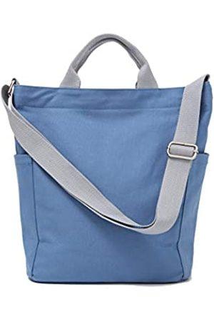 Jeelow Herren Umhängetaschen - Canvas Tote Handtasche Crossbody Schultertasche mit Reißverschluss für Damen und Herren, ( Tote)