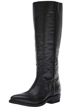 Frye Women's Billy Inside Zip Tall Western Boot, Black Extended