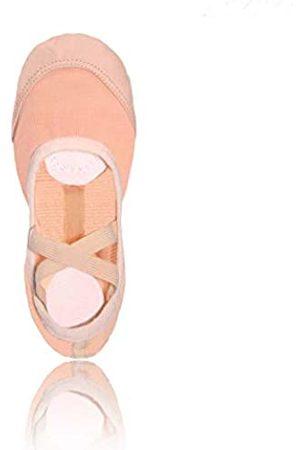 SANSHA Damen Geteilte Ledersohle Weiche Ballettschuhe 83x Pro-fit Flach, Pink (Rose)