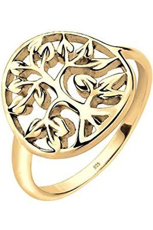 Elli Ring Damen mit Lebensbaum Symbol Floral in 925 Sterling Silber