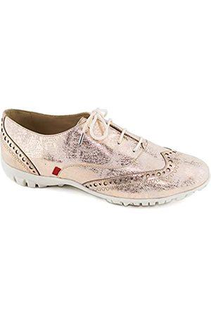 Marc Joseph New York Damen Schuhe - Damen-Golfschuhe, sportlich, bequem, echtes Leder, leicht, ohne Stacheln, atmungsaktiv, wasserdicht, gepolsterte Unterstützung, Schnürschuh, (Rotgold Metallic Wash)
