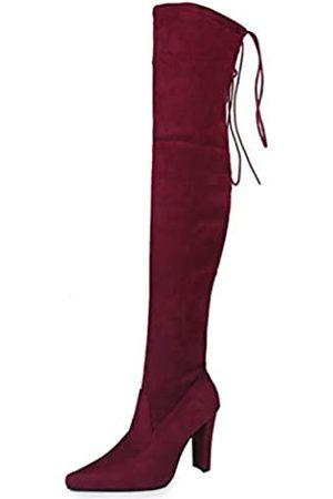 Premier Standard Damen Overknee-Stiefel, sexy Overknee-Stiefel, (Burgund So)