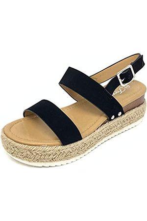 FOREVER Sensational-2 Women's Open Toe Ankle Strap Espadrille Sandal (10 MUS