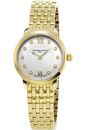 Frederique Constant Damen Analog Quarz Uhr mit Edelstahl beschichtet Armband FC-200WHDS5B