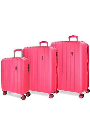 MOVOM Wood Kofferset 55/65/75 cms Hartschalen ABS TSA-Schloss 220L 4 Doppelräder Handgepäck