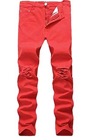 Previn Herren Jeans mit Zerrissen, Stretch