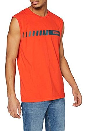 Superdry Herren Shirts - Herren CORE Logo Sport Stripe Vest Unterhemd
