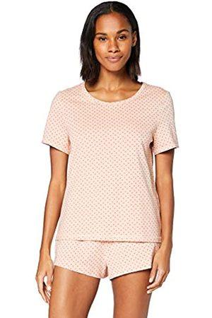 IRIS & LILLY Damen Pyjama-Set aus Baumwolle, Pink ( Herz), XS