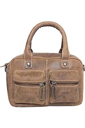 ARRIGO BELLO Leder Westernbag für Damen - Umhängetasche - Lederhandtasche - Handtasche - 18 x 12 x 25 cm