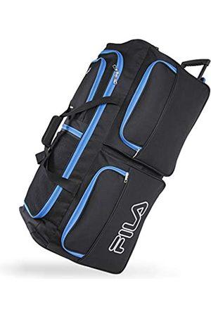 Fila 7-Pocket Large Rolling Duffel Bag, Black/Blue