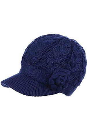 Be Your Own Style Damen Wintermütze mit Zopfmuster und Blumenmuster, gestrickt