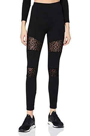 Urban classics Damen Ladies Flock Lace Inset Leggings, Black