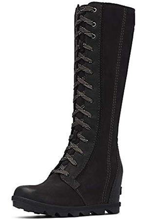 sorel Women's Joan Arctic¿ Wedge II Tall Black Full Grain Leather/Nubuck Combo 7.5 B US