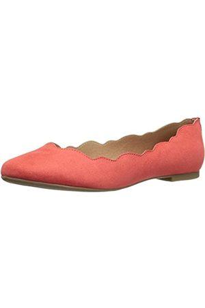 ATHENA Women's Tallye Ballet Flat, Coral Suede