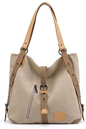 Hiigoo Baumwoll-Leinen-Reisetasche, lässige Schultertasche, modische Einkaufstasche