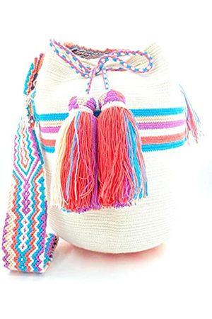 COLOMBIAN STYLE Kolumbian Taschen mit Glocken Wayuu Rucksack für Damen und Herren, (C1055)