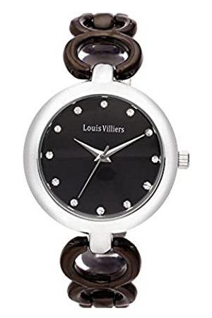 Louis Villiers Unisex Analog Quarz Uhr mit Stoff Armband AL0583-03