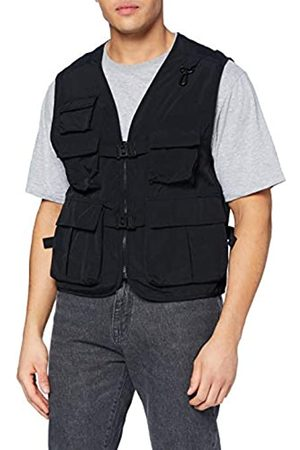 Urban classics Herren Weste Men Tactical Vest Jacke, Black