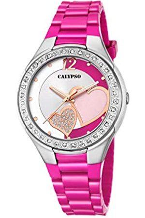 Calypso Damen Analog Quartz Uhr mit Plastik Armband K5679/G
