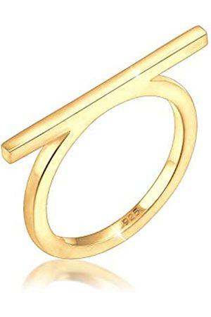 Elli Ring Damen Geo Minimal Blogger Trend Edgy in 925 Sterling Silber