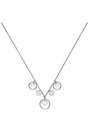 Ceranity 907-041.BDamen-HalskettemitAnhängerMotivKreiseEdelstahlKeramikWeiß45cm