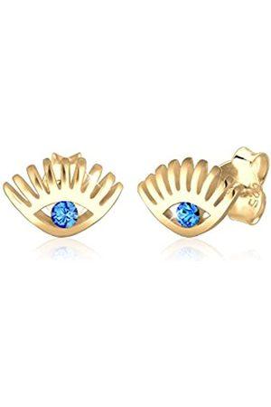 Elli Ohrringe Damen Ohrstecker Evil Eye Blau mit Kristallen aus 925 Sterling Silber