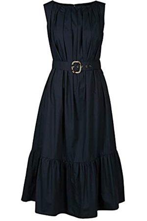 Apart APART, wadenlanges Damen Kleid, Midi-Kleid, aus leicht raschelnder Baumwolle, mit breitem Volant-Saum