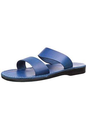 Jerusalem Sandals Women's Aviv Rubber Slide Sandal Blue 36 EU/5 M US