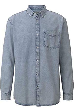 TOM TAILOR Herren Relaxed Denim T-Shirt, 10143-Heavy Bleached Blue