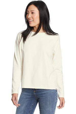 Eddie Bauer Damen Sweatshirts - Mineral Terry Sweatshirt Damen Natur Gr. XS